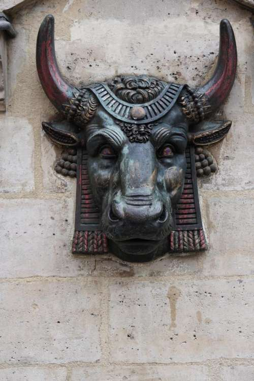 relief art Minotaur Greek mythology myth