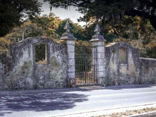 entrance gate stone gate arch