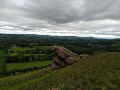 hanging rock peak district outcrop rocky