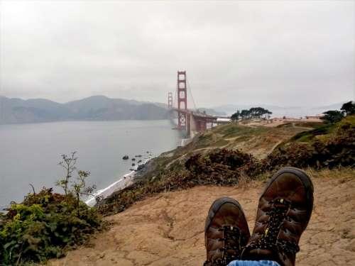 Golden Gate Bridge shoes San Francisco California