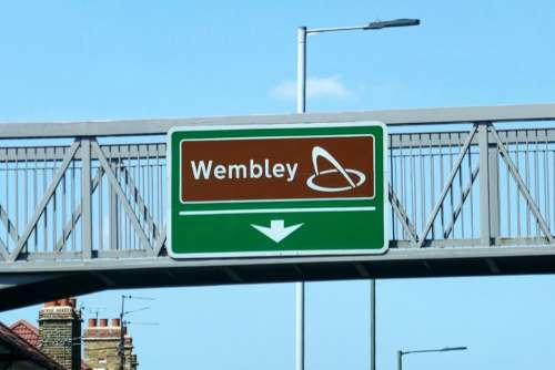 Wembley football stadium England road