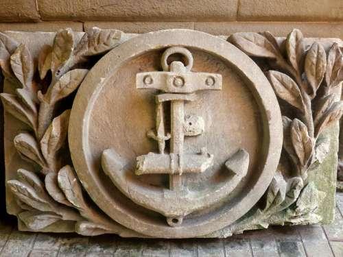 anchor stone carving symbol marine