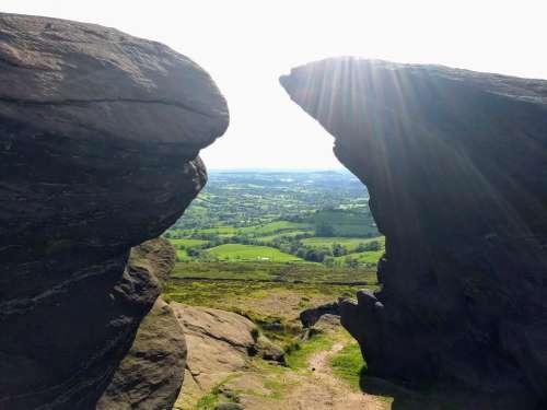 the roaches peak district outcrop rocky