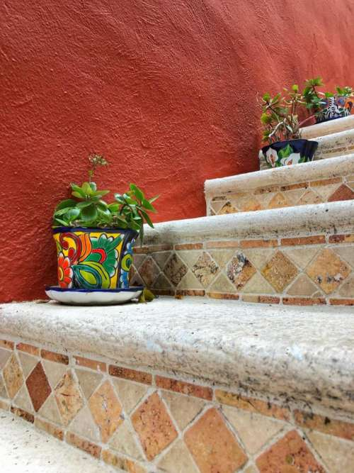 pottery stairs steps staircase stairway