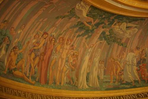 theater  champs elysees mural design art deco