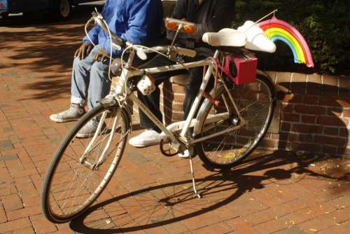 bicycle funny rainbow city bike city