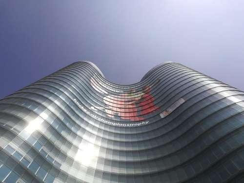 Building glass tower bank Utrecht