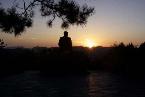 Tianzi Mountain Zhangjiajie China Marshall Helong Sunset