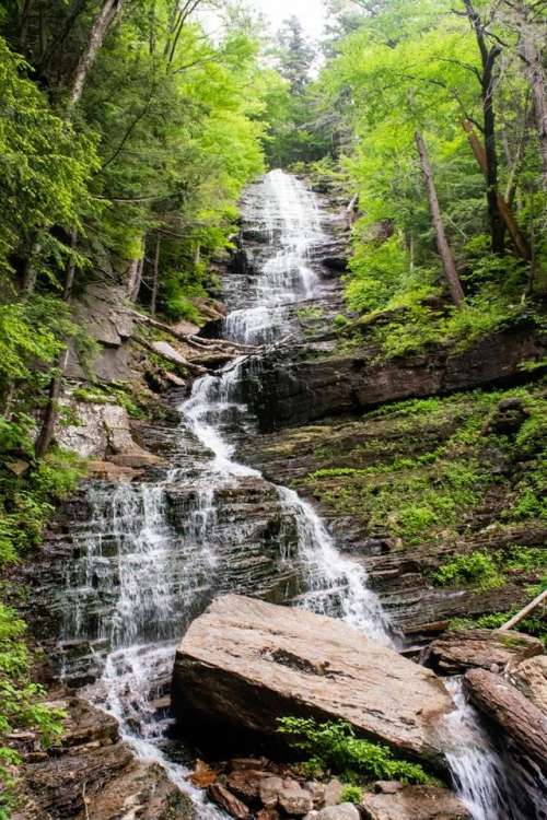 2019  Vermont Manchester waterfall stream