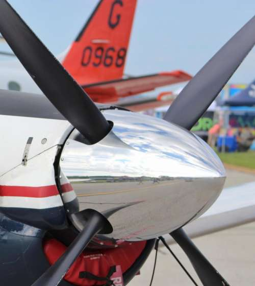airplane aircraft trainer nosecone nose