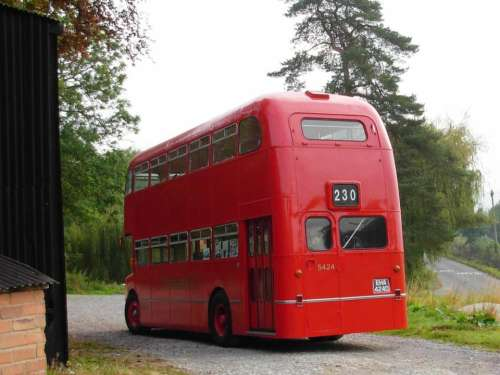 bus red old vintage England