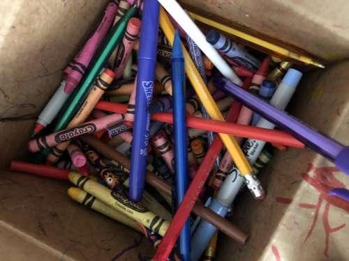 pens crayons art art supplies supplies