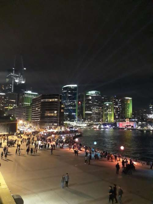 beach night tourists Sydney Australia
