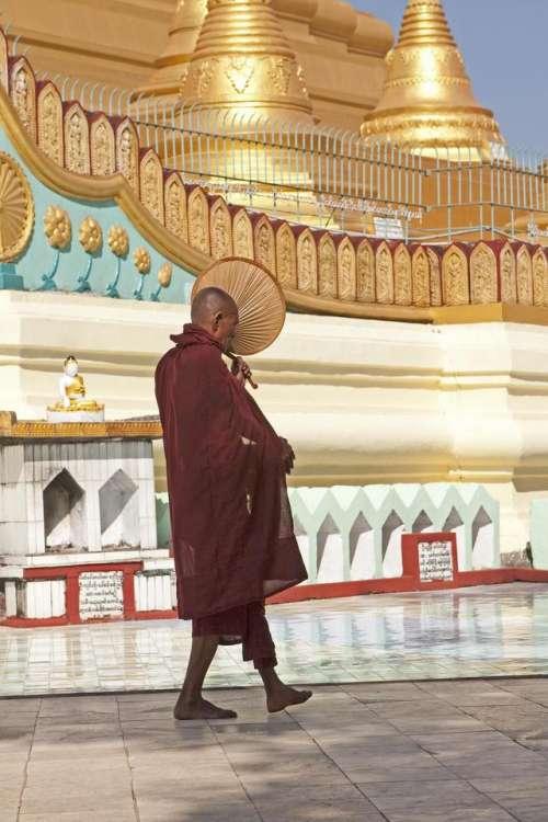 pagoda  monk  Mynmar  Buddhist  ritual