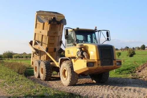 big truck truck yellow truck yellow machine
