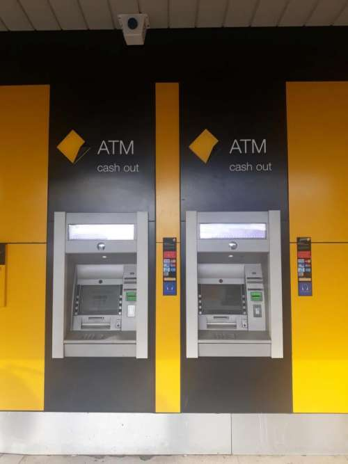 Banking time bank ATM sign