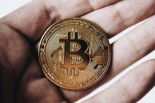 Bitcoin in Hand Free Photo