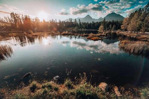 Lake Under Tremendous High Tatras Mountains Free Photo