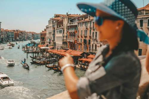 Woman In Venice, Italy Vintage Free Photo