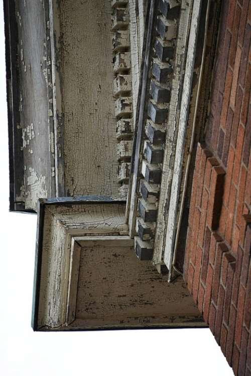 Abandoned Antique Building Trim Details