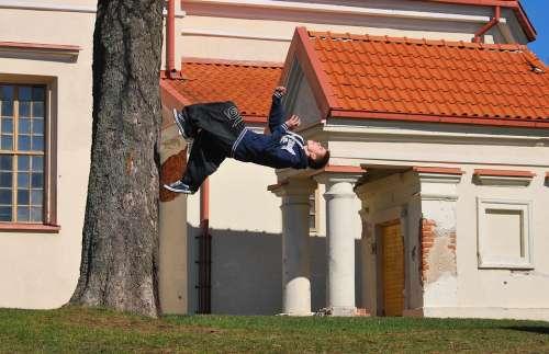 Acrobatic Parkour Jump Running Trick Sport