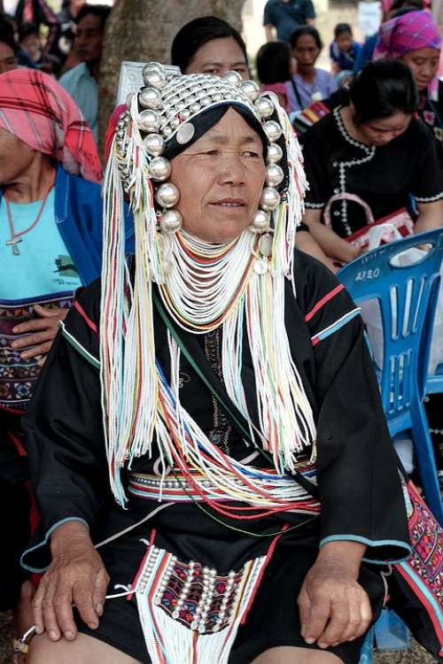 Akha Woman Tribe People Ethnic Asia Tradition