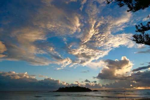 Australia Ocean Island Sea Earth Sky Clouds