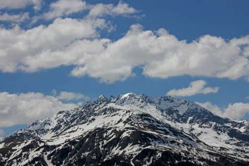 Background Mountains Alpine Clouds View Austria