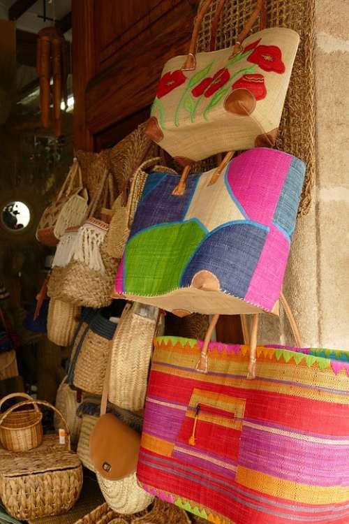 Bag Basket Messages Weaving Knots Rattan Reed