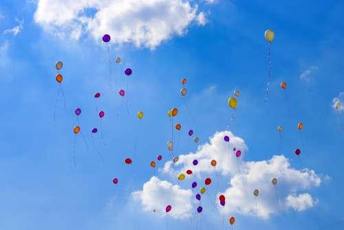 Ballon Birthday Balloons Flying Air Sky Fun