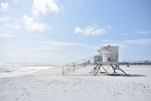 Beach Safety Lifeguard Coast Summer Safe Tower