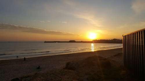 Beach Sunset Dusk Sea Ocean Water Sky Summer