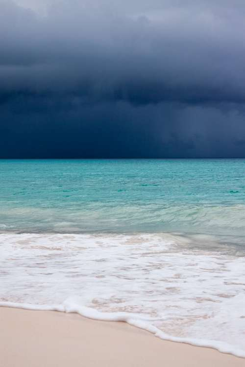 Beach Blue Caribbean Clouds Cloudscape Danger