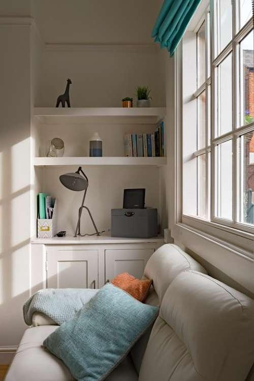 Beautiful Interior Window Living Room Attractive