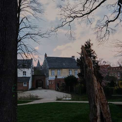 Beguinage Herentals Belgium Building Tree Lawn