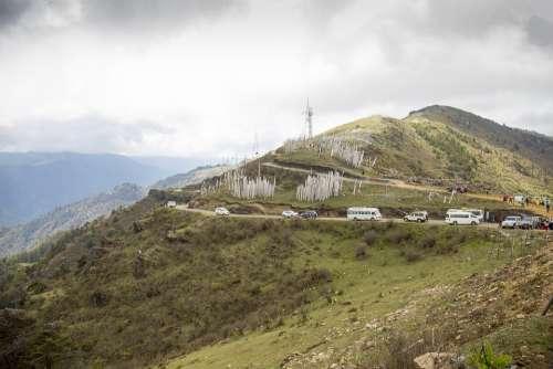 Bhutan Mountain Nature Mountains Landscape Travel