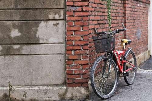 Bike Street Alley City Road Transport Travel Man