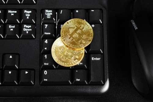 Bitcoin Keyboard Gold Bitcoin Keyboard Coin Coins