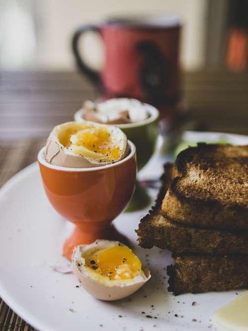 Breakfast Eggs Healthy Boiled Eggs Toast Egg Food