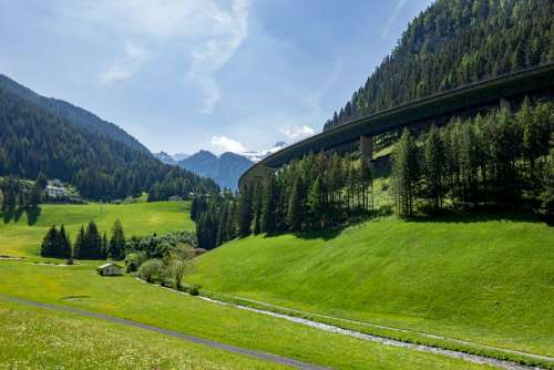 Brenner Motorway Burner Tyrol Austria Toll Truck