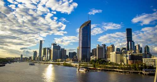 Brisbane Skyline Buildings Cityscape Queensland