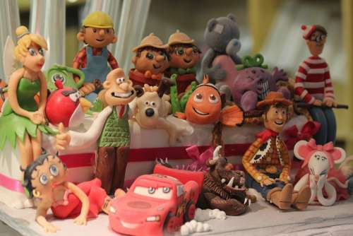 Cake Cartoon Disney Model Decoration Party