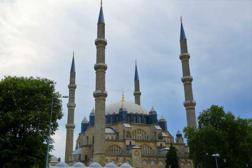 Cami Minaret Dome Islam Religion Date