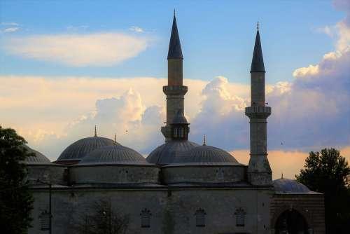 Cami Minaret Islam Architecture Dome Religion