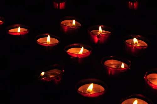 Candle Church Candlelight Flame Religion Faith