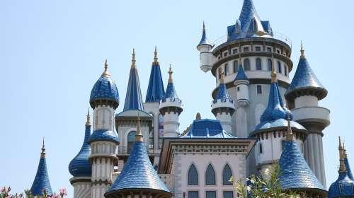 Castle Blue Fairy Tale White