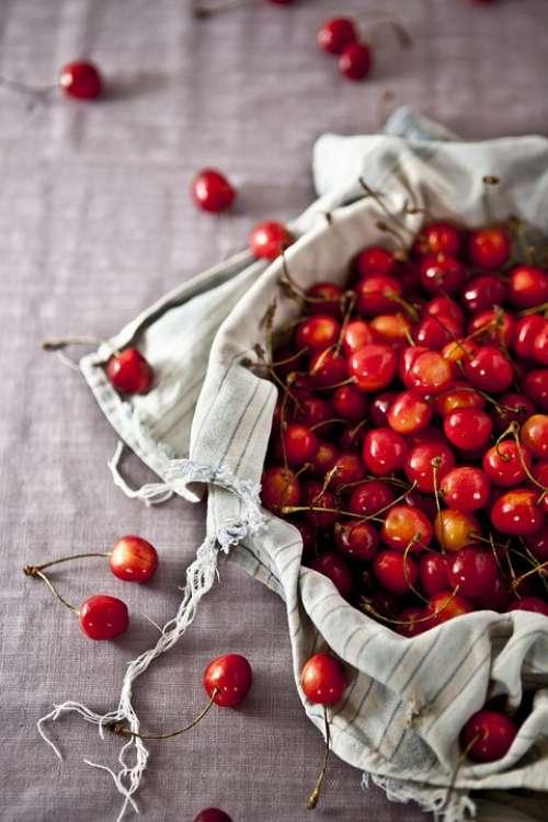 Cherries Fruits Healthy Food Berries Fresh