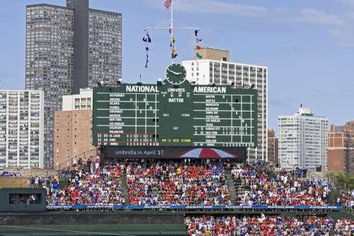 Chicago Wrigley Field Cubs Field Baseball Wrigley