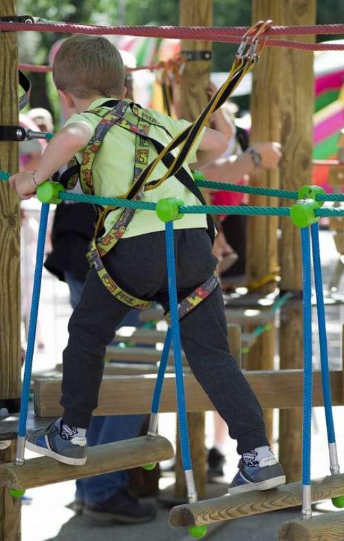 Children'S Games Harness Zipline Climbing Adventure