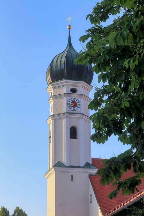 Church Onion Dome Architecture Bavaria Tower